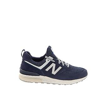 New balance men's MS574BBD12 Blau leather of sneakers