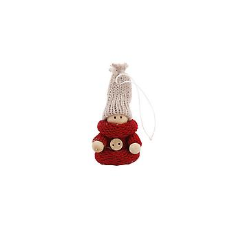CGB Giftware Christmas Mini Wooden Girl Hanging Decoration