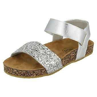 Girls Spot On Glitter Mules - Silver Textile - UK Size 13 - EU Size 32 - US Size 1