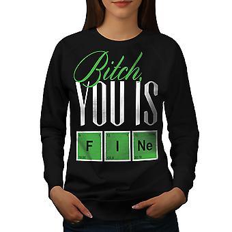 Fine Chemistry Geek Women BlackSweatshirt | Wellcoda