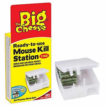 Big Cheese Mouse Kill Station Ready to Use - 2 per pack