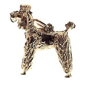9ct Gold 23x19mm Poodle Pendant or Charm