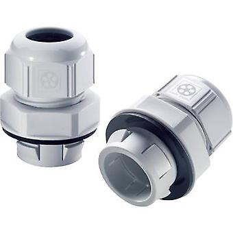 Cable gland M12 Polyamide Light grey (RAL 7035)