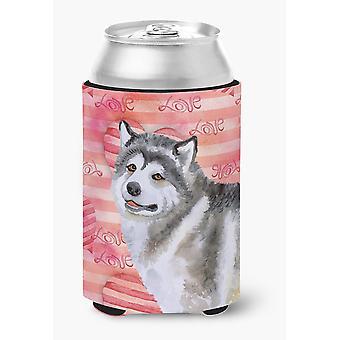 Каролинских сокровища BB9725CC Аляскинский маламут любовь может или бутылка Hugger