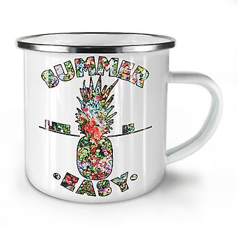 Easy Life Pineapple NEW WhiteTea Coffee Enamel Mug10 oz | Wellcoda