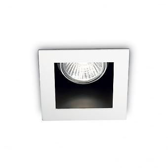 Ideel Lux Funky Square loft forsænket Downlight med Off sæt Bezel, GU10, hvid