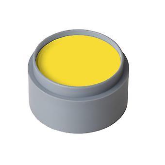 Maquillaje y pestañas agua maquillaje puro amarillo brillante