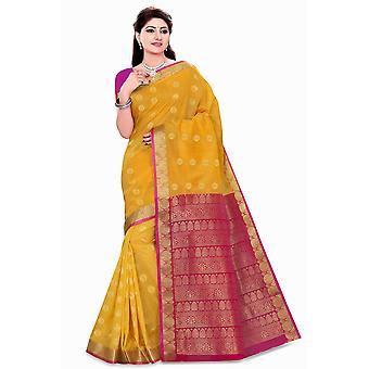 Neha geel kunst zijde Sari Saree buikdansen Wrap