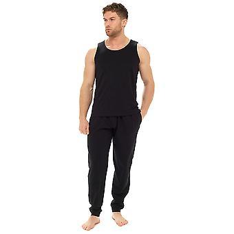 Tom Franks Mens Polycotton Vest and Trouser Lounge Pyjamas