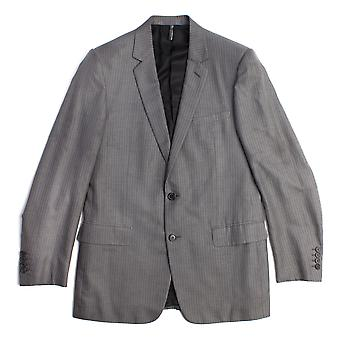 Dior Men's Cotton Pinstriped Two-Button Suit Grey White