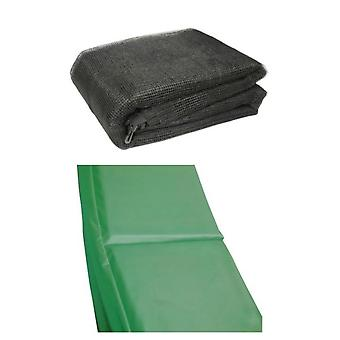 13 Ft Trampoline Accessory pack - Green Pad and Netting