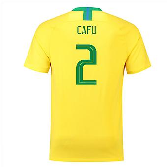 2018-2019 Brazil Home Nike Football Shirt (Cafu 2)