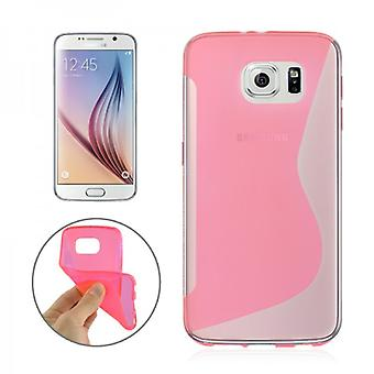 S-line silicone case Pink for Samsung Galaxy S6 G920 G920F