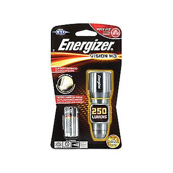 Energizer Vision HD 250 Lumens Metal Handheld Torch 3 x AA Included