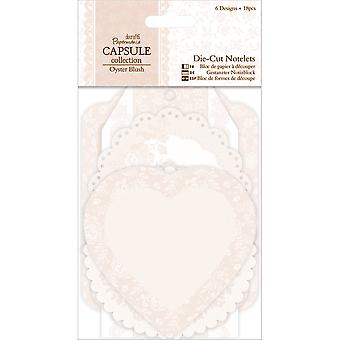 Papermania Oyster Blush Die-Cut Notelets 18/Pkg-6 Designs/3 Each