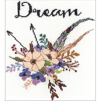 Watercolor Flowers Dream Counted Cross Stitch Kit-10