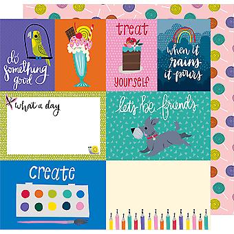 Shimelle Box Of Crayons Double-Sided Cardstock 12