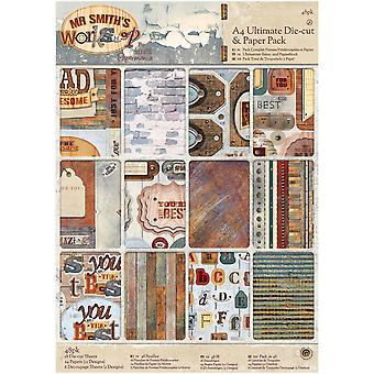 Papermania Ultimate A4 Die-Cuts & Paper Pack 48/Pkg-Mr. Smith's Workshop