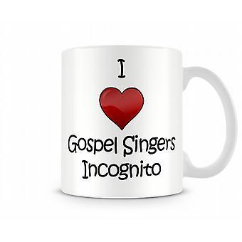 Me encanta el Evangelio cantantes taza impresa