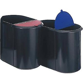 Waste paper basket 29 l Helit Black, Blue