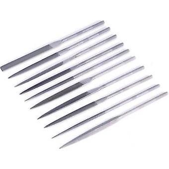 10pcs. needle file set TOOLCRAFT 821006 Handle length 90 mm