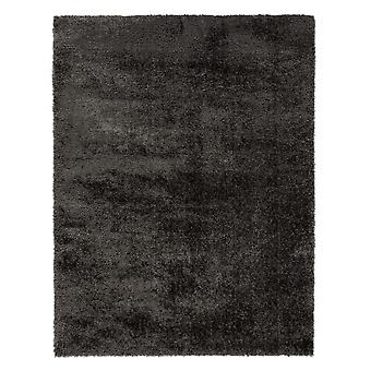 Velvet Plain Charcoal  Rectangle Rugs Plain/Nearly Plain Rugs