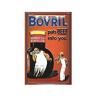 Bovril Puts Beef Into You Embossed Steel Sign 300Mm X 200Mm