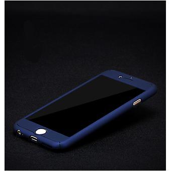 Apple iPhone 8 Plus Handy-Hülle Schutz-Case Full-Cover Panzer Schutz Glas Blau