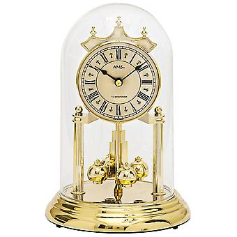 AMS 1204 table clock with rotating pendulum year watch rotating pendulum clock quartz golden