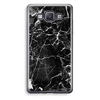 Samsung Galaxy A5 (2015) Transparent Case (Soft) - Black Marble 2