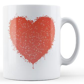 Graffiti Heart Printed Valentines Day Mug