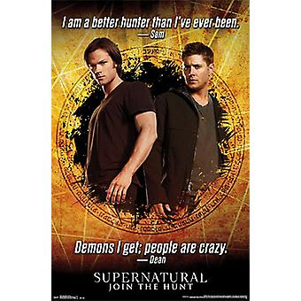 Supernatural Poster Zitate Join The Hunt