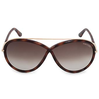 Tom Ford Tamara Oval Sonnenbrillen FT0454 52K 64 | Havanna-Frame | Grauen Farbverlauf Linsen