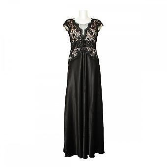 Ronald Joyce Lace Bodies Long Dress