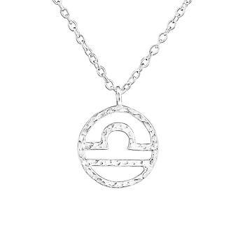 Libra Zodiac Sign - 925 Sterling Silver pianura collane - W36716X