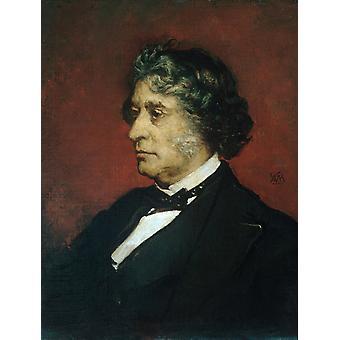 Portrait of Charles Sumner, William Morris Hunt, 50x40cm