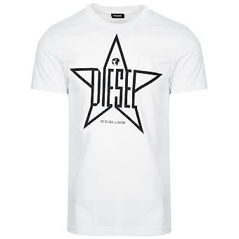 Diesel Diesel White T-Diego Logo T-Shirt
