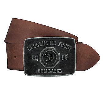 Jeans ceintures de hommes ceintures en cuir TOM TAILOR ceinture ceinture Cognac 4354