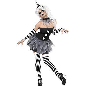 Sinister Pierrot Costume, UK Dress 8-10