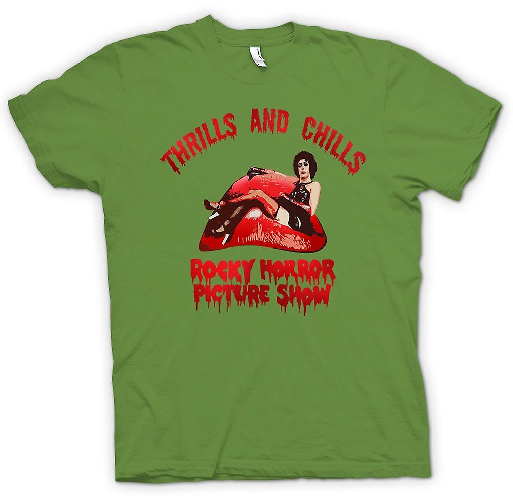 Mens T-shirt - Thrills Chills Rocky Horror Picture