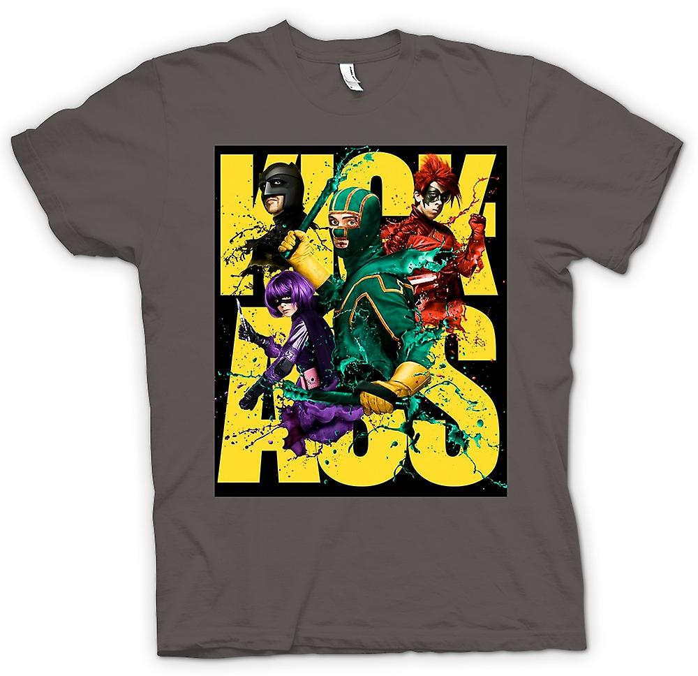 T-shirt-Kick Ass Super eroe - B Movie - Poster