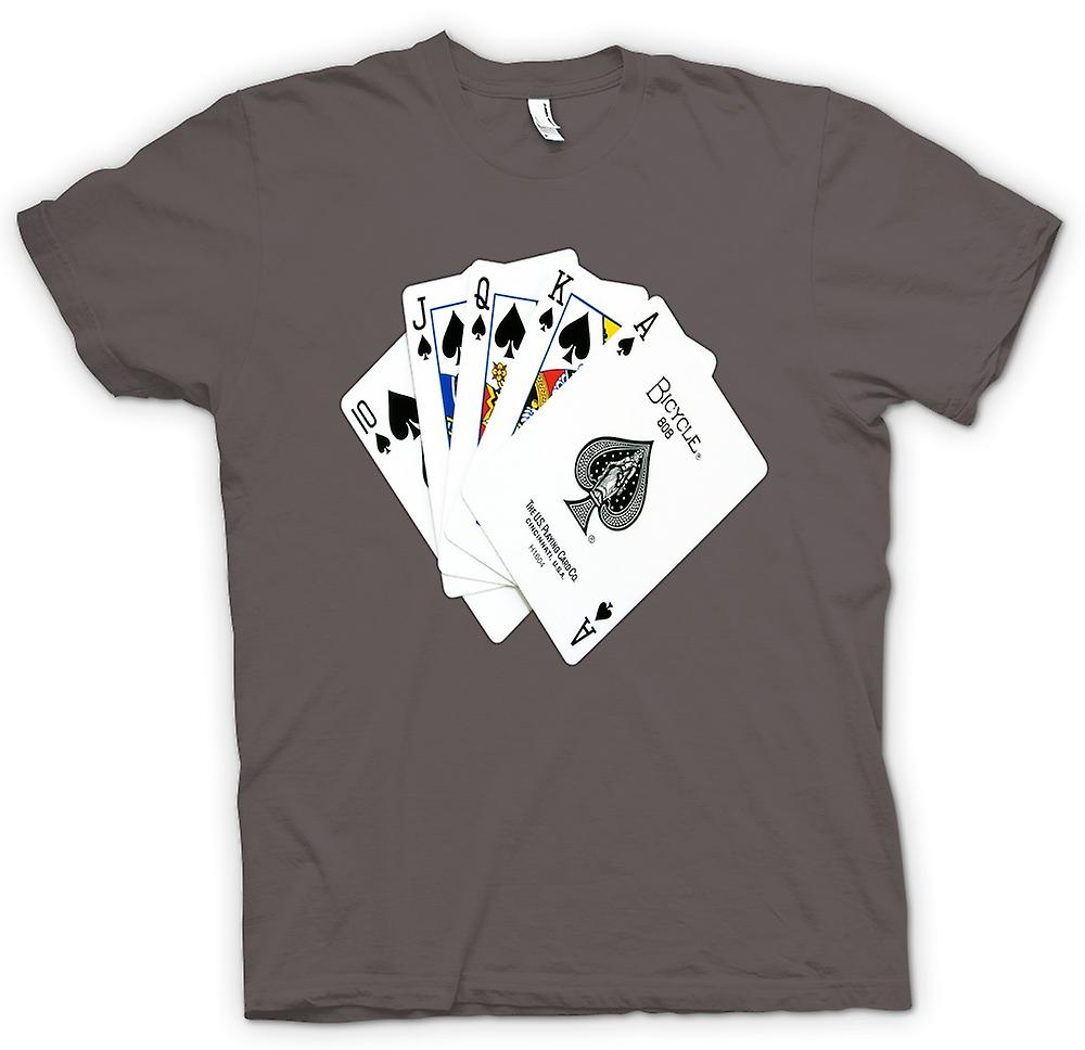 Mens T-shirt - Poker Royal Flush