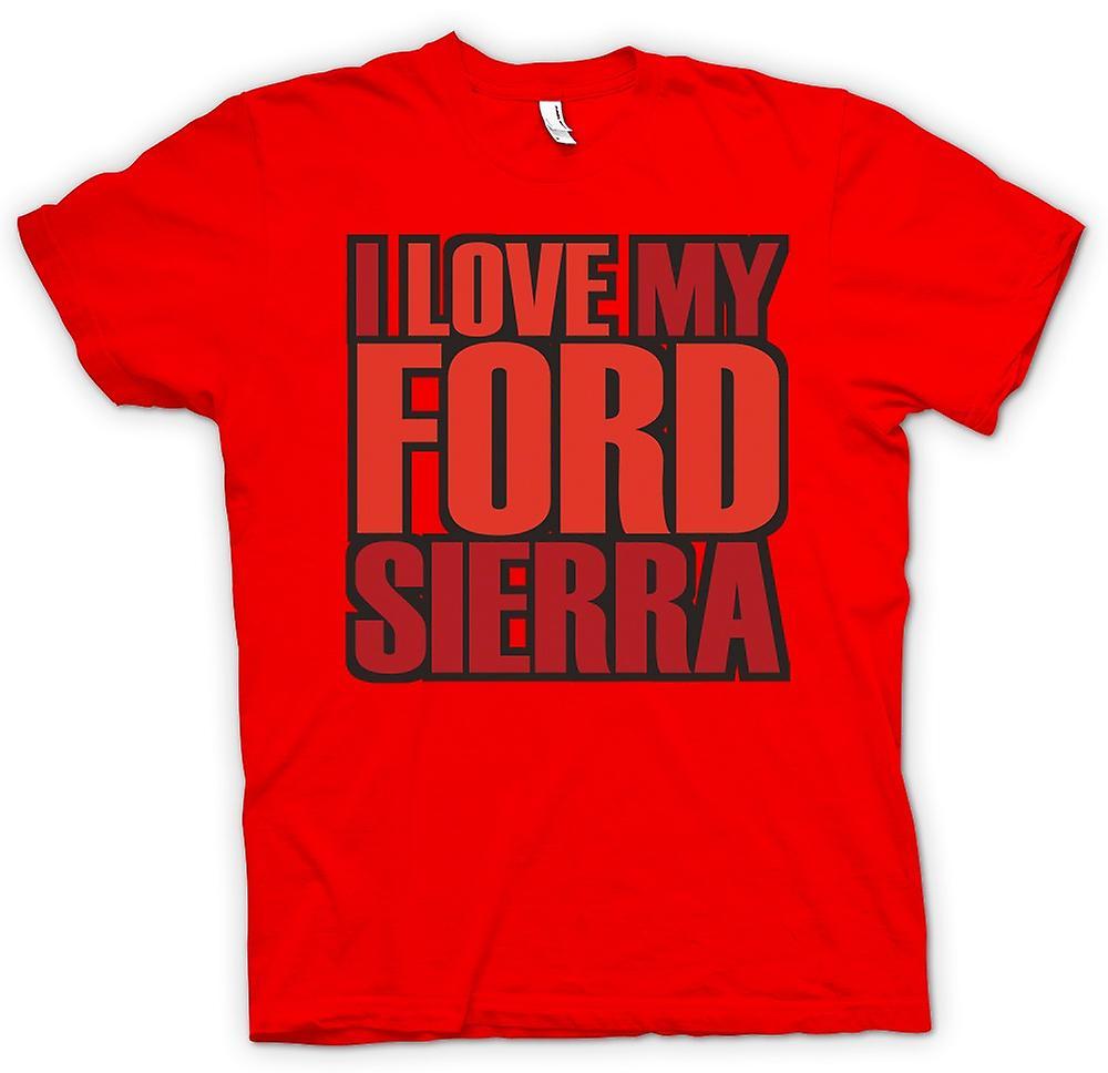 Herr T-shirt - jag älskar min Ford Sierra - bil entusiast
