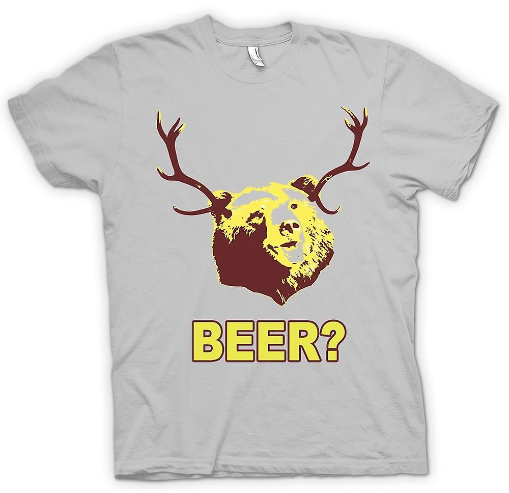 Mens T-shirt - BEER Bear Funny Drinking