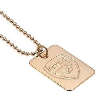 Arsenal Gold Plated Dog Tag & cadeia