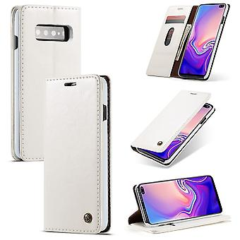 CaseMe protective cover cell phone case for Samsung Galaxy S10 business bag wallet white