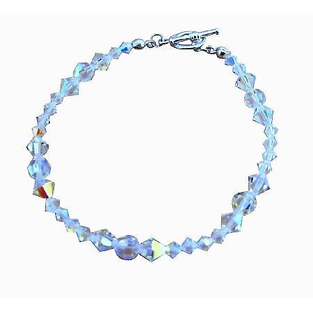 Bridal Bridemaides Handcrafted Irredescent Crystals Swarovski AB Crystal Bracelets Custom Bracelet
