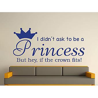 Being A Princess v2 Wall Art Sticker - Azure