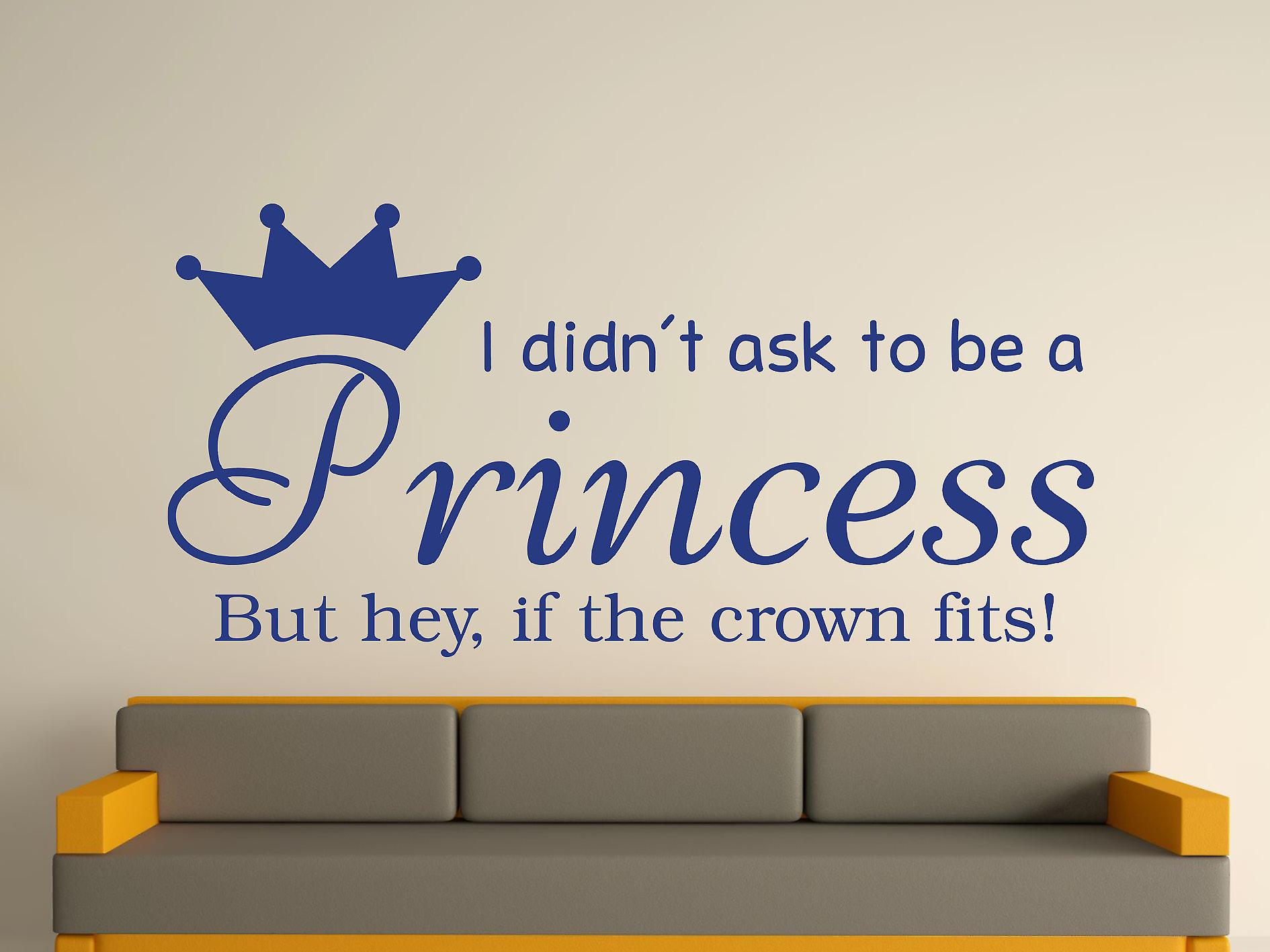Wird A Princess v2 Wall Art Sticker - Azure