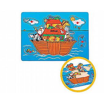 THE TOY WORKSHOP Noah  39s Ark Pull Out Puzzle Wooden Toy